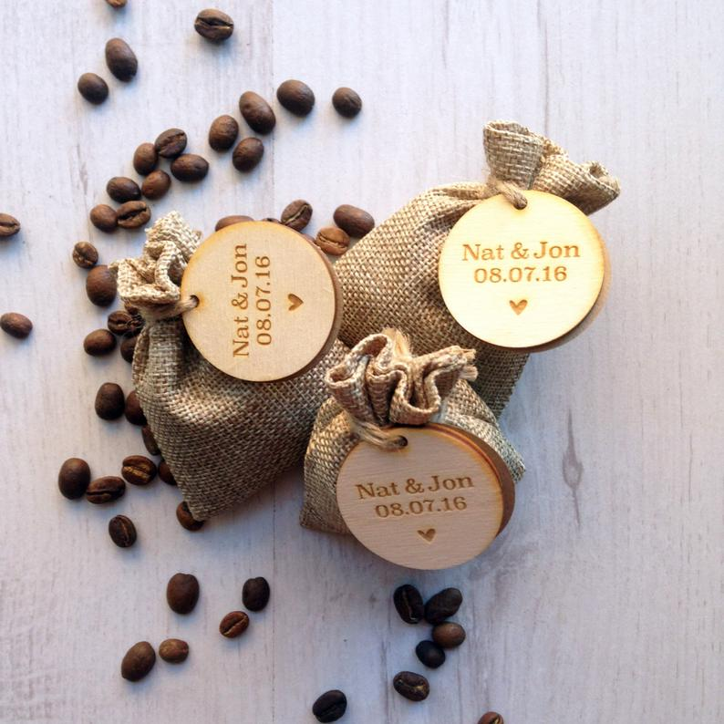 Unusual & Personalised Wedding Favour Ideas Coffee Favour