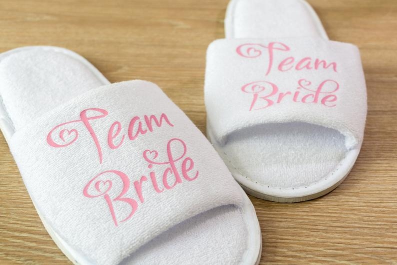 Unusual & Personalised Wedding Favour Ideas Personalised Open Toe Spa Slippers
