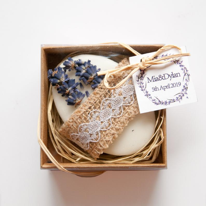 Unusual & Personalised Wedding Favour Ideas l Boxed Soap