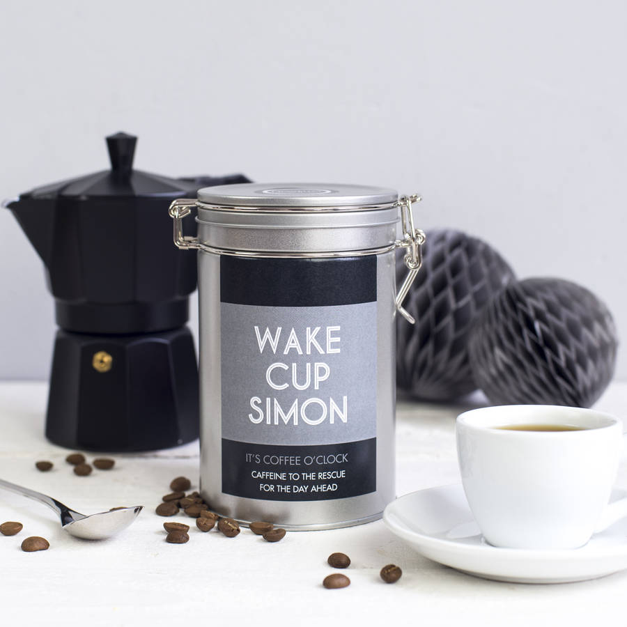 Personalised Coffee Gift In A Tin \ Unusual & Personalised Wedding Favour Ideas