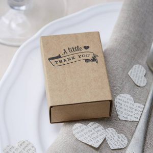 Wedding favour matchbox favours