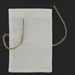 Ivory Favour Bags with String 10 Pack