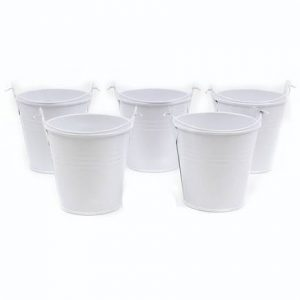 White Metal Buckets