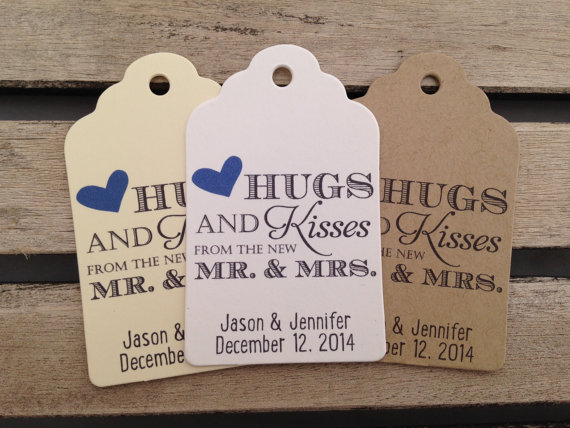 Personalised tags wedding favours | Cheap wedding favours under £1 | realwedding.co.uk