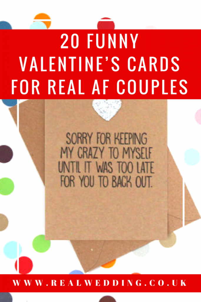 20 FUNNY VALENTINE'S CARDS FOR REAL AF COUPLES | RealWedding.co.uk