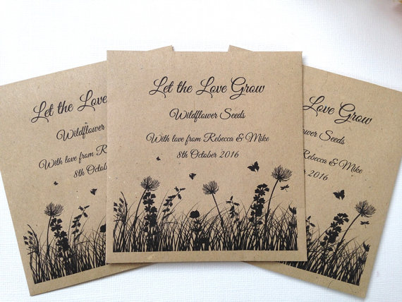 7 seeds wedding favours | Cheap wedding favours under £1 | realwedding.co.uk