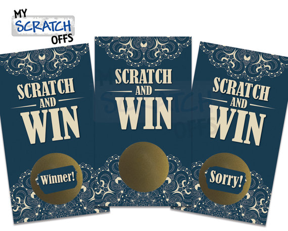 Scratch cards wedding favours | Cheap wedding favours under £1 | realwedding.co.uk