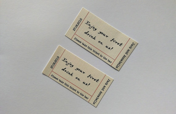 Drink tokens wedding favours | Cheap wedding favours under £1 | realwedding.co.uk