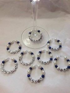 Wine glass charms wedding favours | Cheap wedding favours under £1 | realwedding.co.uk