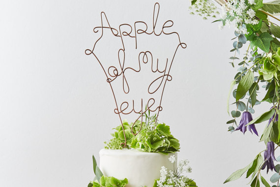 Apple of my eye cake topper | realwedding.co.uk