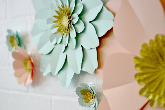 Flower wall art | realwedding.co.uk