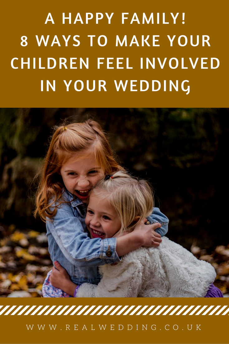 A Happy Family! 8 Ways To Make Your Children Feel Involved In Your Wedding | RealWedding.co.uk