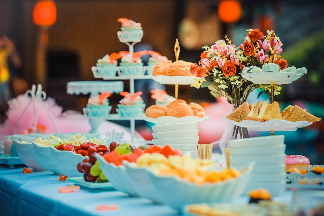Colourful wedding food