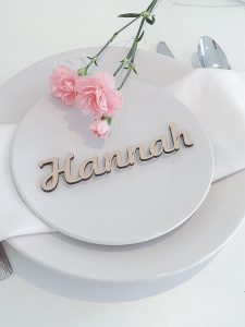 Wooden Wedding Place Setting