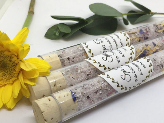 Natural Bath Salt Wedding Favour