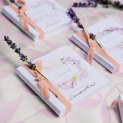 Notepad Favour With Personalised Garden Party Cover