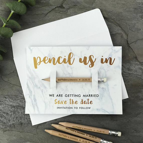 Save the Date or Pencil Us In Wedding Invitations