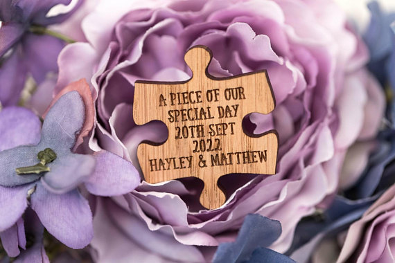 Custom Wedding Favors - 'A piece of our special day'