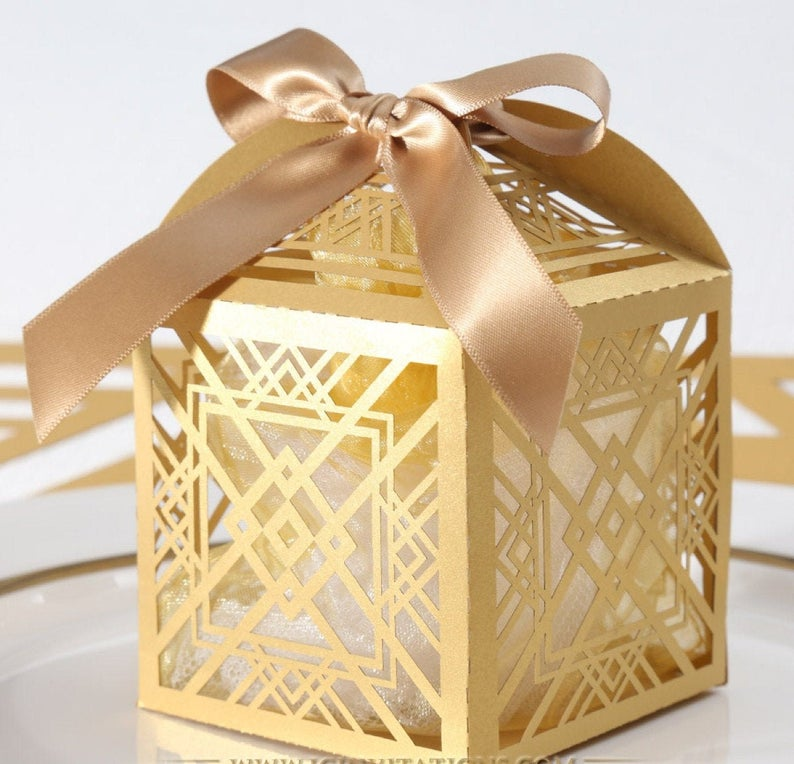 DIY  & Handmade Wedding Favour Ideas l Art Deco Favour Box DIY Kit