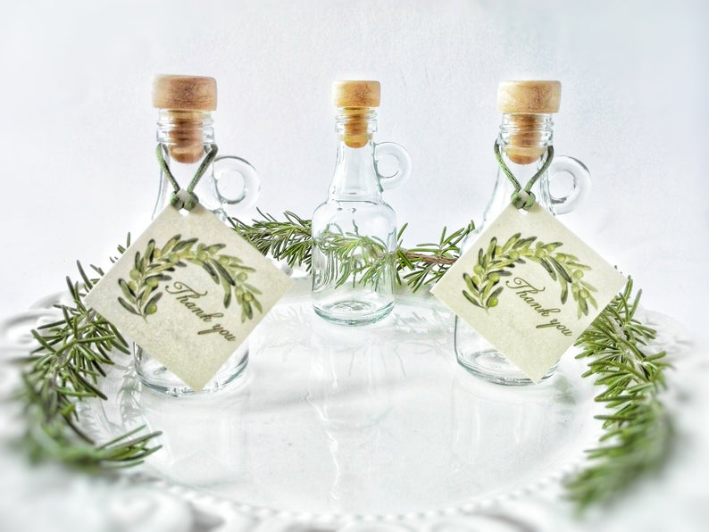 DIY  & Handmade Wedding Favour Ideas l Corked Bottles with Custom Tags