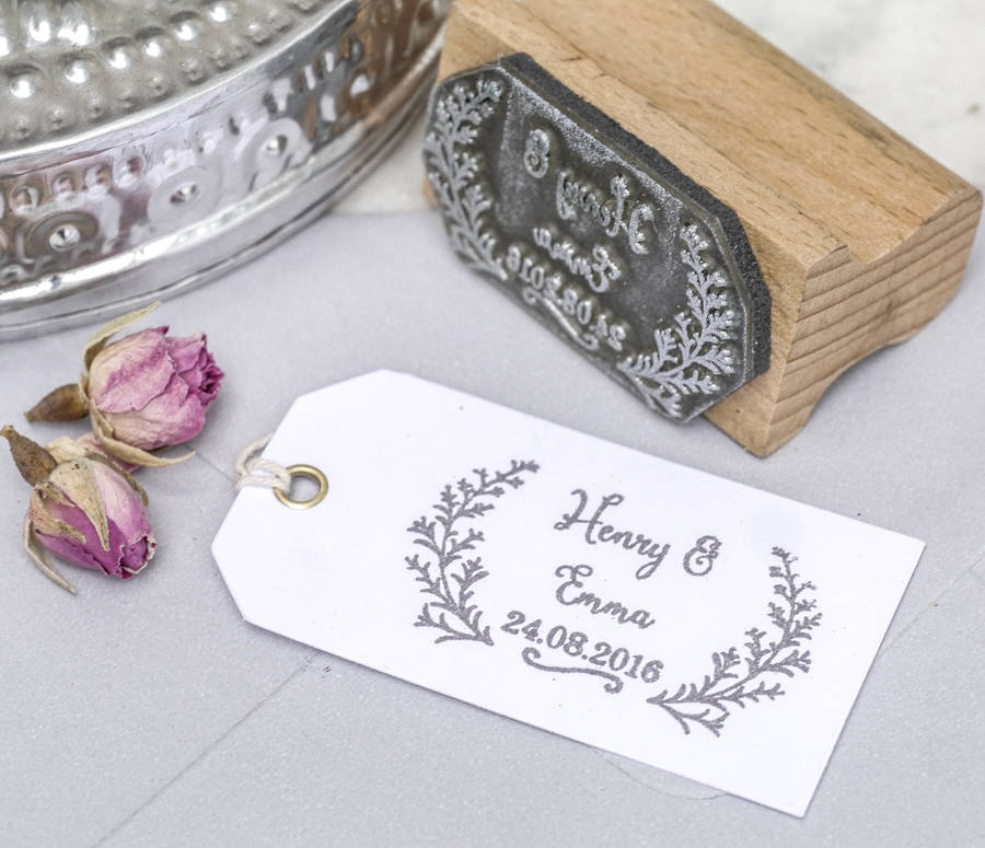 DIY  & Handmade Wedding Favour Ideas l Wedding Favour Botanical Stamp