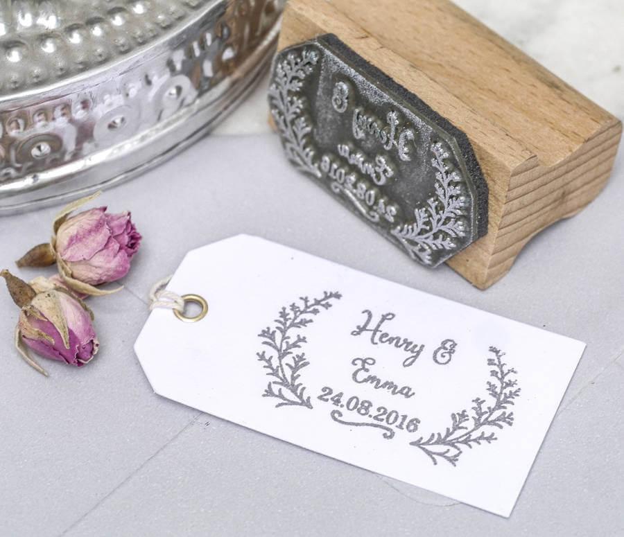 DIY  & Handmade Wedding Favour Ideas l Wedding Favour Botanical Stamp