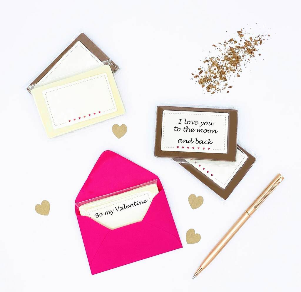 DIY  & Handmade Wedding Favour Ideas l Write Your Own Chocolate Love Notes
