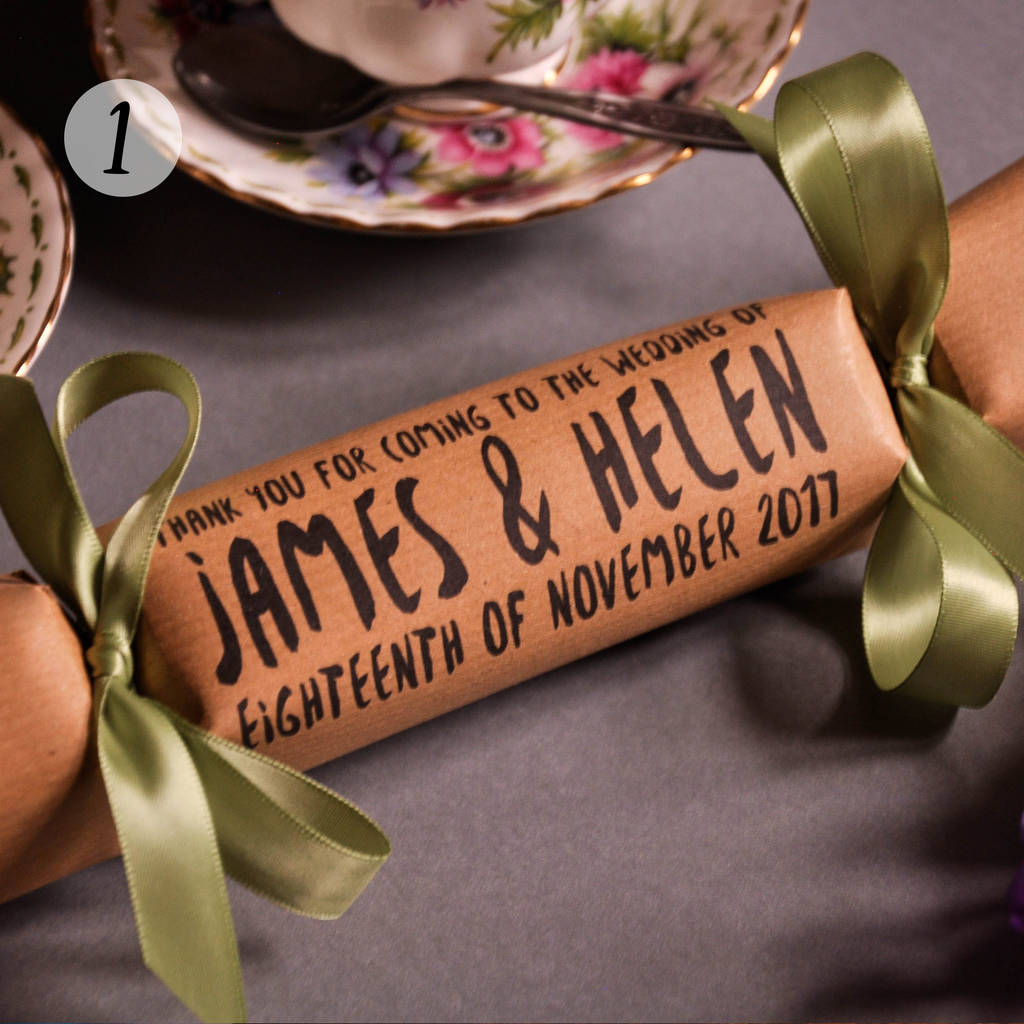 DIY  & Handmade Wedding Favour Ideas l Wedding Favour Or Table Name Crackers