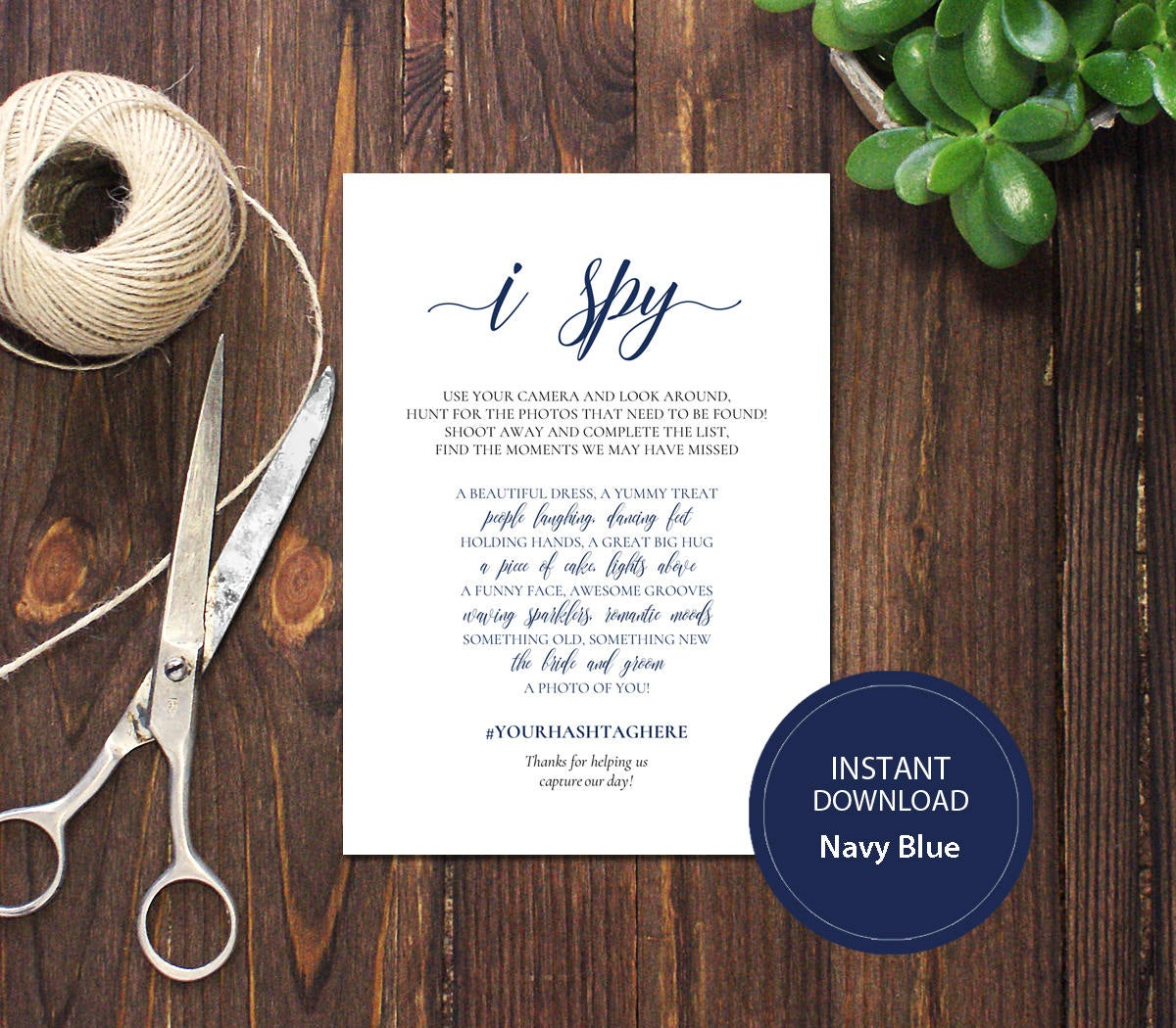 DIY  & Handmade Wedding Favour Ideas l DIY I Spy Wedding Game Template