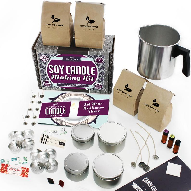 DIY  & Handmade Wedding Favour Ideas l DIY Soy Candle Making Kit