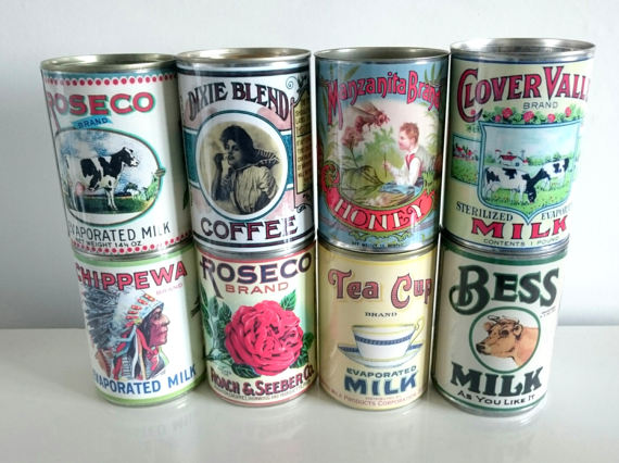 Vintage Wedding - Food Tin Cans Replica