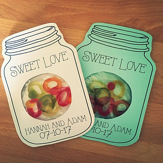 Faux Sweetie Jar Wedding Favours