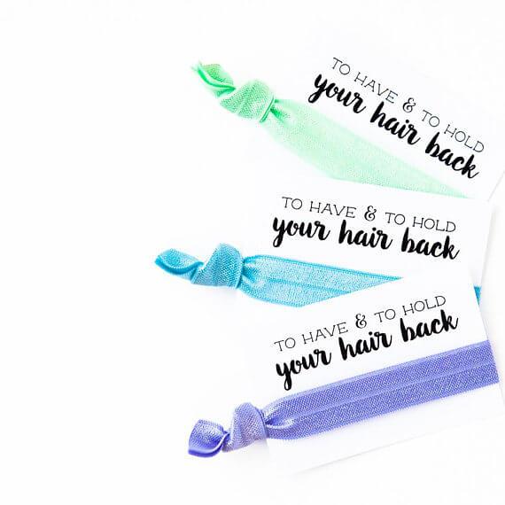 Mint Bachelorette Hair Tie Favors