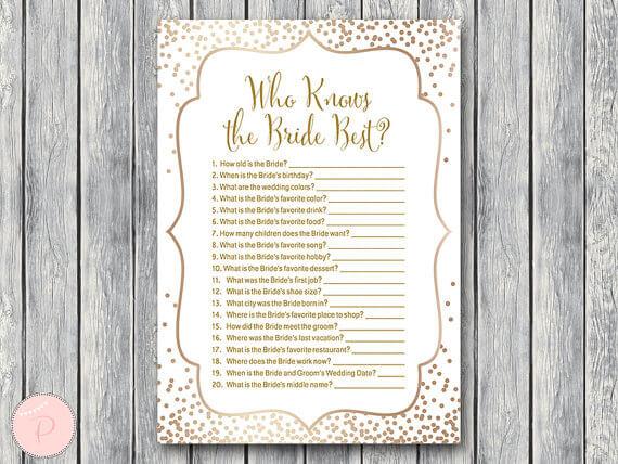 Bride Quiz