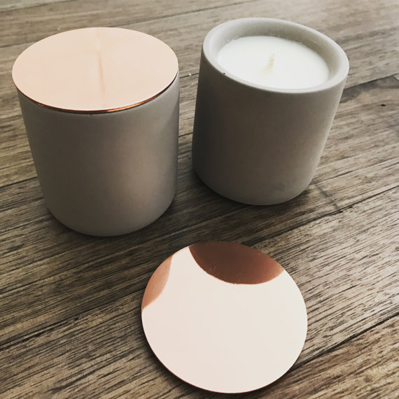 Mini Concrete Soy Candles