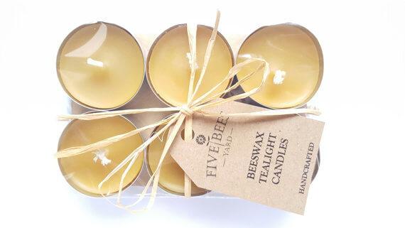 Organic Beeswax Tealights Candle