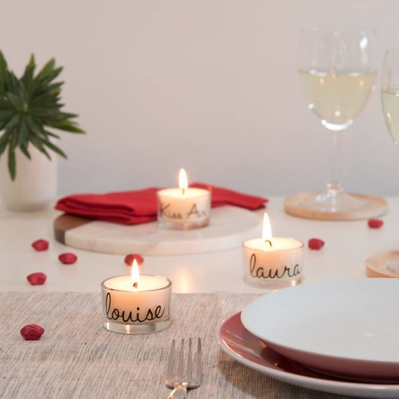Personalised Tealight Wedding Party Gift