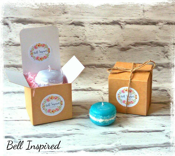 Macaron Candle Favours