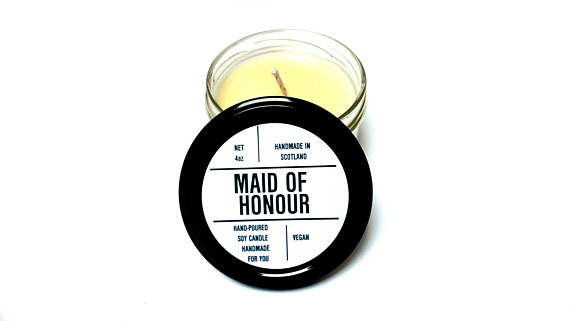 Personalised Scented Soy Candle