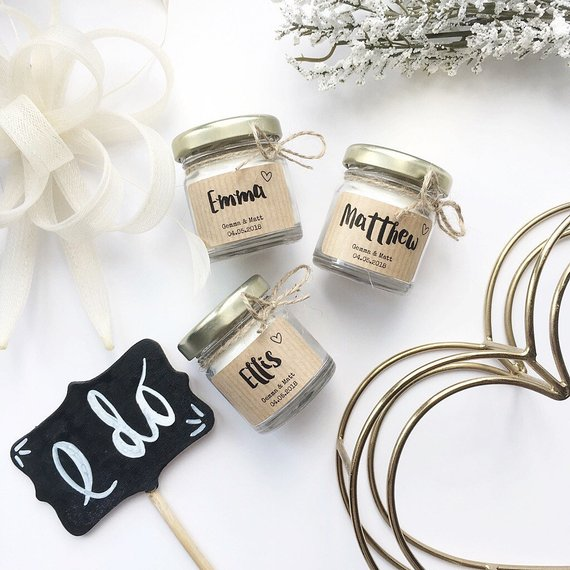 Scented Soy Candle Wedding Party Favour