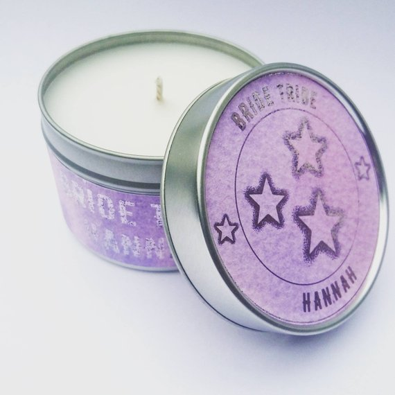 Personalised Travel Tin Candle