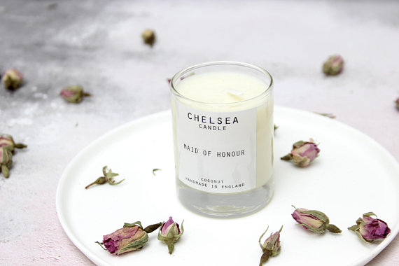 Hand Poured Mini Soy Candle Wedding Favour