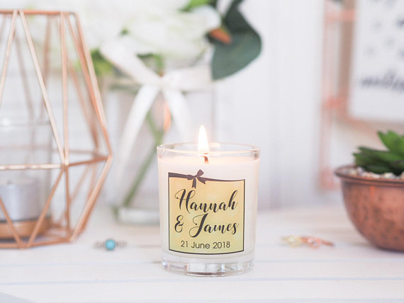 Personalised Candle Favour