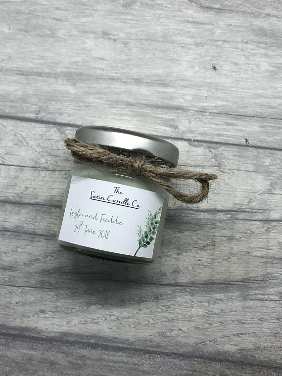 Botanical Wedding Scented Candle Favour