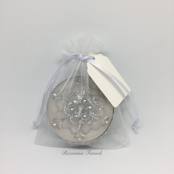 Large Hand Decorated Tea Light Candles