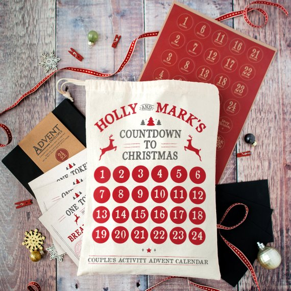 Personalised Couple's Christmas Advent Calendar