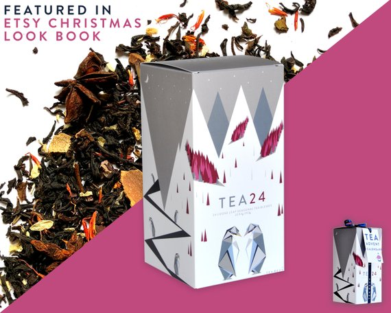 24 Seasonal Tea Blends Christmas Gift and Advent Calendar