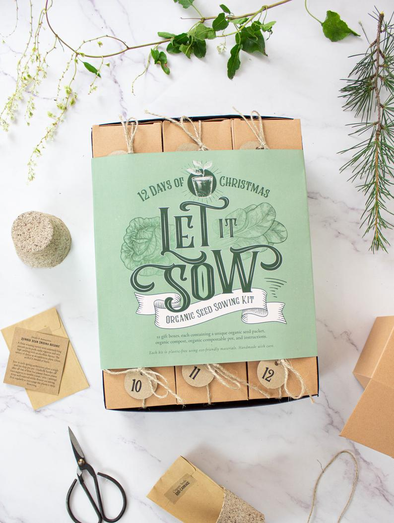 Let It Sow - Organic Seed Sowing Kit - 12 Days of Christmas Advent Calendar