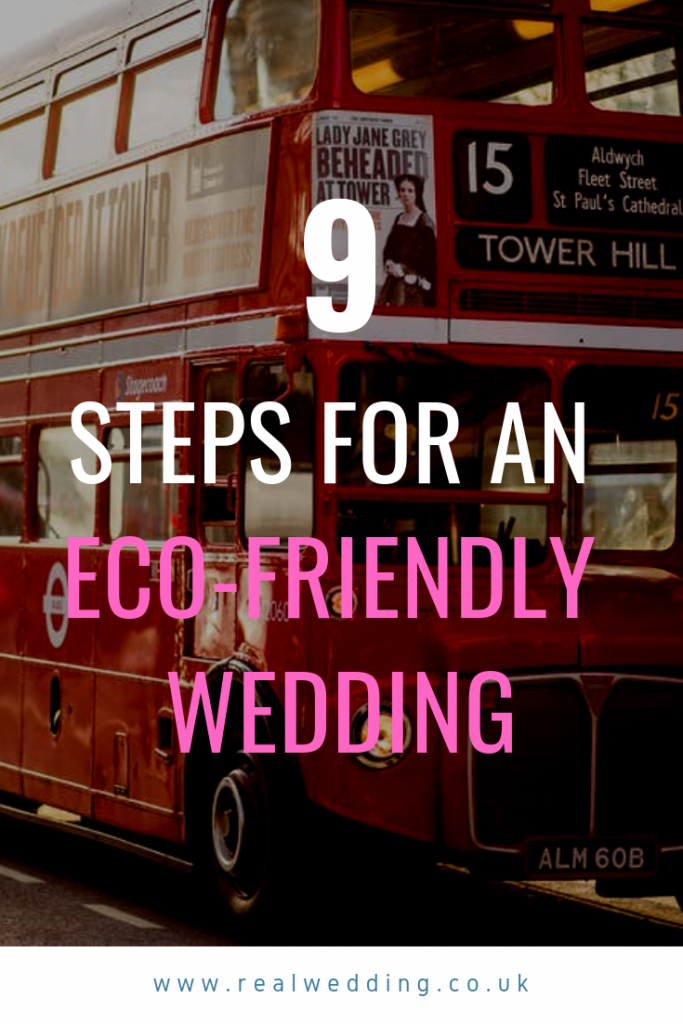9 steps for an eco-friendly wedding