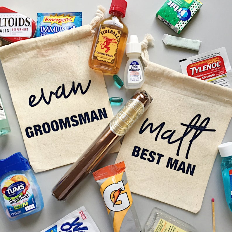 Groomsmen Gift Bag | 100 Cheap Wedding Favour Ideas For Under £1 Each! | realwedding.co.uk